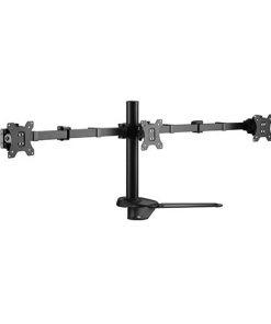 "LDT33-T036-Brateck Triple Monitors Affordable Steel Articulating Monitor Stand Fit Most 17""-27"" Monitors Up to 7kg per screen VESA 75x75/100x100"