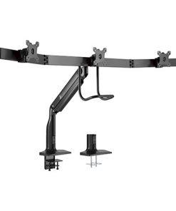 "LDT43-C031-Brateck Triple Monitors Select Gas Spring Aluminum Monitor Armt Fit Most Screen Size 17""-32"" up to 6.5kg VESA 75x75/100x100"