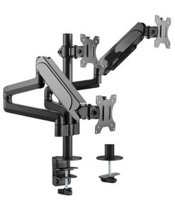 "LDT48-C036-Brateck Triple Monitors Pole-Mounted Gas Spring Monitor Arm Fit Most 17""-27"" Monitors Up to 7kg per screen VESA 75x75/100x100"