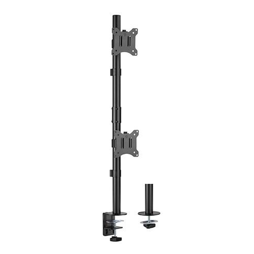 "LDT57-C02V-Brateck Vertical Pole Mount Dual-Screen Monitor Mount Fit Most 17""-32"" Monitors"