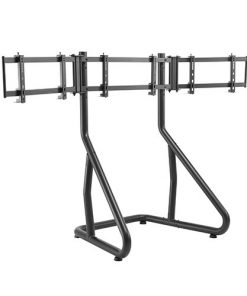 """LRS01-SR02-Brateck Triple Monitor Stand Perfect Viewing in the Game Fit Most 24""""-32"""" Monitors Up to 10kg per screen"""