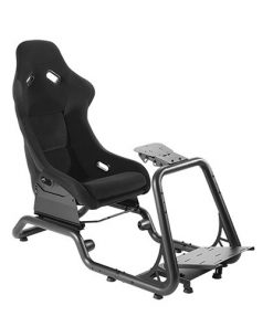 LRS02-BS-Brateck Premium Racing Simulator Cockpit Seat Professional Grade Product for the Serious Sim Racer 600x1285~1515x1160mm