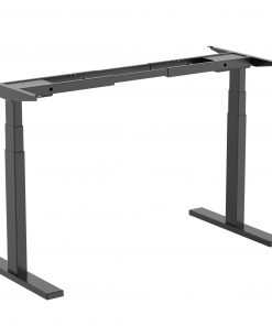M09-23D-B-Brateck High performance 3-Stage Dual Motor Sit-Stand Desk 1000~1500x600x620~1280mm (Black FRAME ONLY); Requires TP15075 for the Board