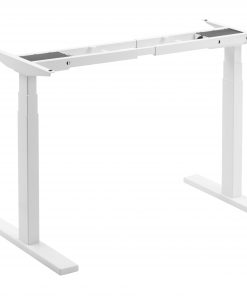 M09-23D-W-Brateck High performance 3-Stage Dual Motor Sit-Stand Desk 1000~1500x600x620~1280mm( WhiteFRAME ONLY); Requires TP15075 for the Board