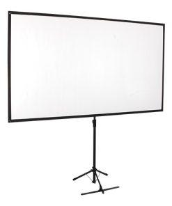 "PKDA80-Brateck Economy 80"" Tripod Projector Screen Black 16:9"