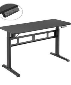 S04-22D-B-Brateck Stylish Single-Motor Sit- Stand Desk 1400x600x740~1200mm - Black