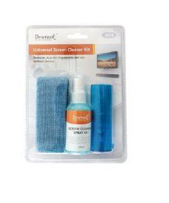 SC-1-Brateck 3-In-1 Screen Cleaner Kit 1 x 60ml Screen Cleaner + 1 x 200x200mm Pearl Cloth + 1 x Soft Brush  (LS)