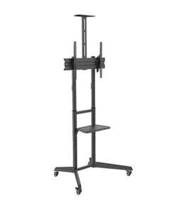 T1040T-Brateck Versatile  Compact Steel TV Cart with top and center shelf for 37'-70' TVs Up to 50kg