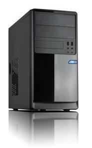 CM-13B-Casecom CM13 Black mATX w/550W 1x USB3.0+1xUSB2.0