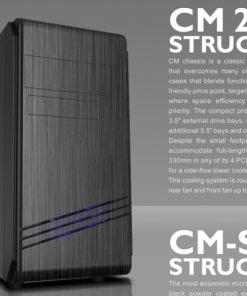 CM-272-Casecom CM-272 mATX w/550W with PCIE 6+2 pins