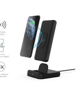 CY3038PBCHE-CYGNETT DUO 10K WIRELESS POWERBANK  CHARGING DOCK - BLACK - 18W FAST CHARGING FOR MOBILE DEVICES