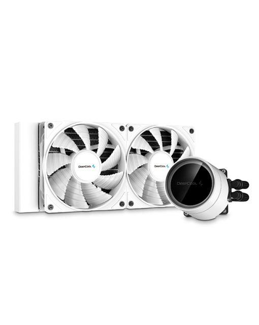 DP-GS-H12W-CSL240EX-AR-WH-Deepcool Castle 240EX A-RGB White CPU Liquid Cooler Intel LGA20XX/1151/1150/1155/1200/1366 AMD TRX4 TR4 AM4 AM3+ AM3 AM2+ AM2 FM2+ FM2 FM1