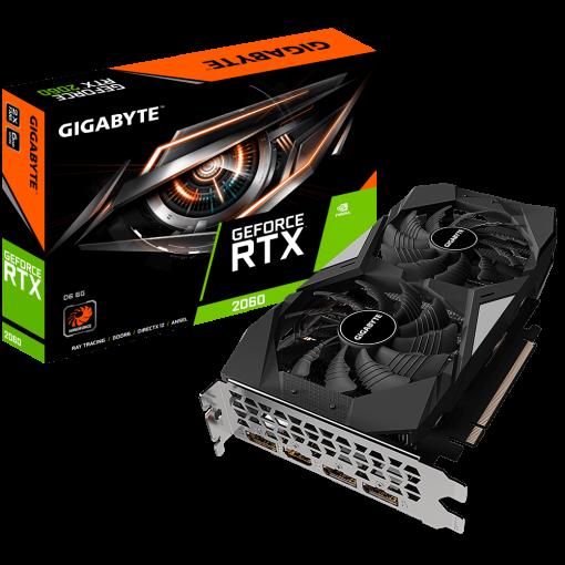 GV-N2060D6-6GD-Gigabyte nVidia GeForce RTX 2060 D6 6GB v2.0 Video Card