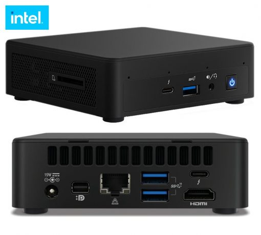 BNUC11TNKI70000-New Intel NUC i7-1165G7 4.70 GHz 2xDDR4 SODIMM M.2 SSD 4xDisplays HDMI USB-C mDP Intel Xe Graphic GbE LAN WiFi6 BT VESA 2xThunderbolt 3xUSB no AC Cord