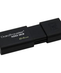 DT100G3/64GB-Kingston 64GB USB3.0 Flash Drive Memory Stick Thumb Key DataTraveler DT100G3 Retail Pack 5yrs warranty