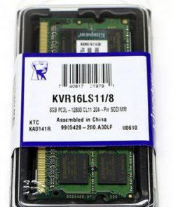 KVR16LS11/8-Kingston 8GB (1x8GB) DDR3L SODIMM 1600MHz 1.35V / 1.5V Dual Voltage ValueRAM Single Stick Notebook Memory