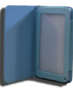 NALT7-CBLUE-LeaderTab7 Folio Case Blue Faux Leather. Camera hole rear