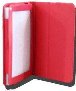 NALT79-CRED-LeaderTab 7.9 Folio Case Red Faux Leather. Camera hole rear