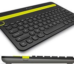 920-006380-Logitech K480 Bluetooth Wireless Multi Device Keyboard Black for PC Smartphone Tablet Windows Mac Android iOS