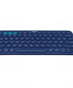 920-007597-Logitech K380 Multi-Device Bluetooth Keyboard Blue Take-to-type Easy-Switch wireless10m Hotkeys Switch 1year Warranty (LS)