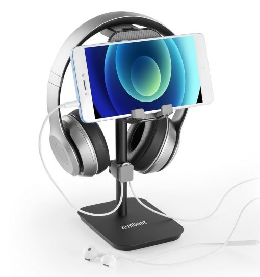 MB-STD-S3BLK-mbeat®  Stage S3 2-in-1 Headphone and Tiltable Phone Holder Stand