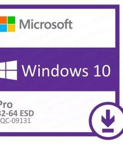 FQC-09131-Microsoft Windows 10 Professional 32bit/64bit - Digital Download - Key Only