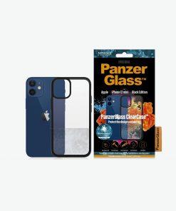 0251-PanzerGlass™ ClearCase™ iPhone 12 Mini- Black Edition - Slim fashionable design