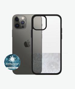 0252-PanzerGlass™ ClearCase™ iPhone 12/12 Pro - Black Edition - Slim Fashionable Design