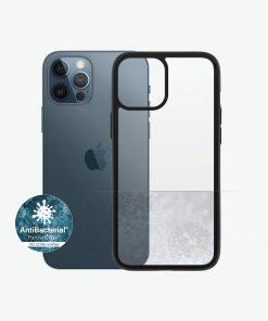 0253-PanzerGlass™ ClearCase™ iPhone 12 Pro Max - Black Edition - Slim Fashionable Design