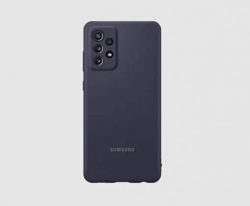 EF-PA725TBEGWW-Samsung A72  Silicone Cover Black - Silky smooth and stylish