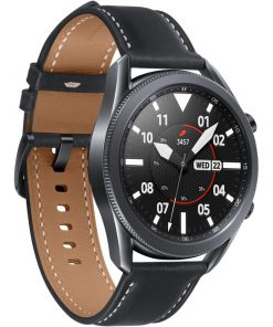 "SM-R840NZKAXSA-Samsung Galaxy Watch3 Bluetooth (45mm) Mystic Black - 1.4"" Super AMOLED Display"