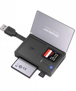 CR309-Simplecom CR309 3-Slot SuperSpeed USB 3.0 Card Reader with Card Storage Case