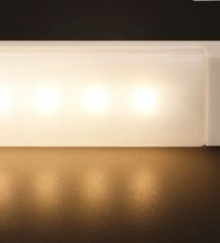 EL608-3K-Simplecom EL608 Rechargeable Infrared Motion Sensor Wall LED Night Light Torch - Warm White