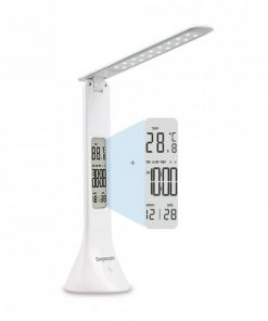 EL610-Simplecom EL610 LED Mini Desk Lamp Rechargeable with Digital Clock