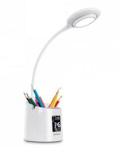 EL621-Simplecom EL621 LED Desk Lamp with Pen Holder and Digital Clock Rechargeable