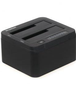"SD322-BLACK-Simplecom SD322 Dual Bay USB 3.0 Aluminium Docking Station for 2.5"" and 3.5"" SATA HDD Black"