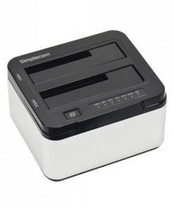 "SD322-SILVER-Simplecom SD322 Dual Bay USB 3.0 Aluminium Docking Station for 2.5"" and 3.5"" SATA HDD Silver"