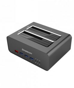 SD352-Simplecom SD352 USB 3.0 to Dual SATA Aluminium Docking Station with 3-Port Hub and 1 Port 2.1A USB Charger