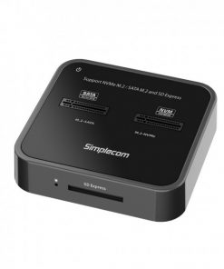 SD530-Simplecom SD530 USB 3.2 Gen2 to NVMe + SATA M.2 SSD Dual Bay Docking Station with SD Express Card Reader