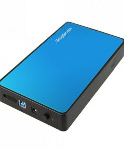 "SE325-BLUE-Simplecom SE325 Tool Free 3.5"" SATA HDD to USB 3.0 Hard Drive Enclosure - Blue Enclosure"