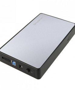 """SE325-SILVER-Simplecom SE325 Tool Free 3.5"""" SATA HDD to USB 3.0 Hard Drive Enclosure - Silver Enclosure"""