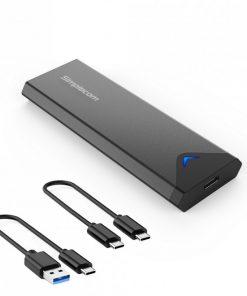 SE509-Simplecom SE509 NVMe (M Key) M.2 SSD to USB 3.2 Gen 2 USB-C 10Gbps Enclosure