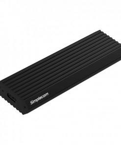 SE513-BK-Simplecom SE513 NVMe PCIe (M Key) M.2 SSD to USB 3.1 Gen 2 Type C Enclosure 10Gbps - Black