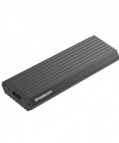 SE513-GREY-Simplecom SE513 NVMe PCIe (M Key) M.2 SSD to USB 3.1 Gen 2 Type C Enclosure 10Gbps - Grey