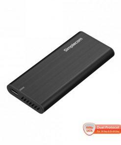 SE515-Simplecom SE515 Tool-Free NVMe / SATA Dual Protocol M.2 SSD to USB 3.2 Gen 2 Type C Enclosure