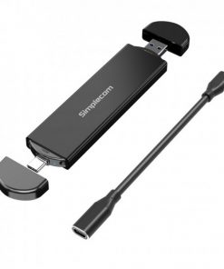 SE522-Simplecom SE522 NVMe / SATA M.2 SSD to USB 3.2 Gen 2 Dual USB Connector Enclosure
