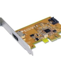 SATA1616-Sunix SATA1616 PCI Express SATA 3.0 Card 6Gbit/s - 1 Internal/1 External Port/2-Port PCI Express RIAD Controller(LS)