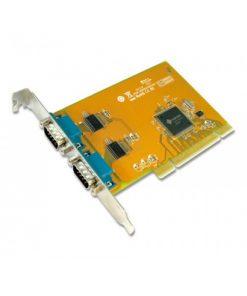 SER5037A-Sunix COMCARD-2P SER5037A Dual Port Serial IO Card PCI Card; speeds up to 115.2Kbps; Support Microsoft Windows