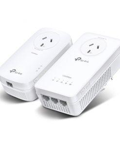 TL-WPA8631PKIT-TP-Link TL-WPA8631PKIT AV1300 Gigabit Passthrough Powerline AC Wi-Fi Kit AV2 300Mbps 867Mbps 2x2MU-MIMO 300m Range (LS)