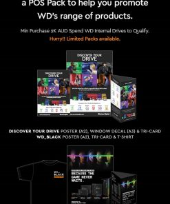 HBWD-WDMKPACK-Buy $500 WD + Get 1x FREE WD Marketing Pack - Your Drive A2 Poster